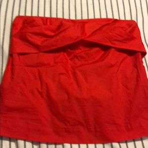 NWT j crew red strapless top cotton size 8